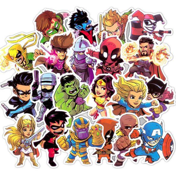 Marvel DC Super Hero Vinyl Stickers Laptop Stickers Sticker Bomb Stickers