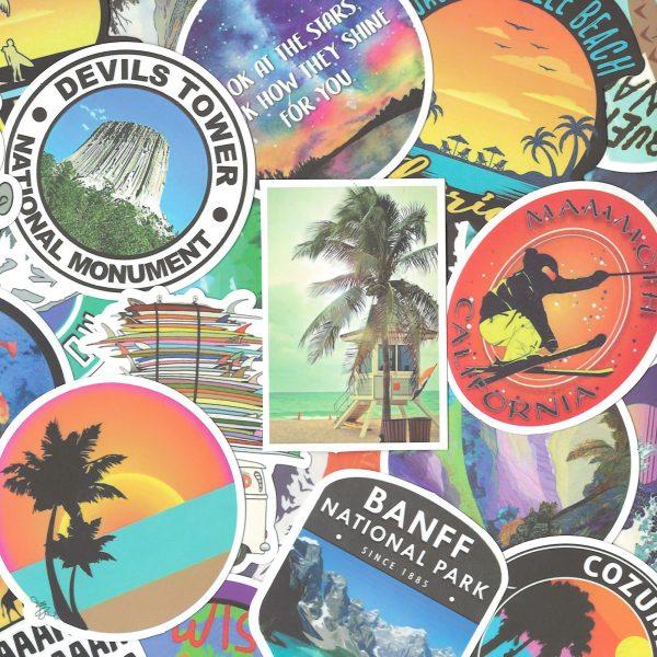Travel Wanderlust Stickers