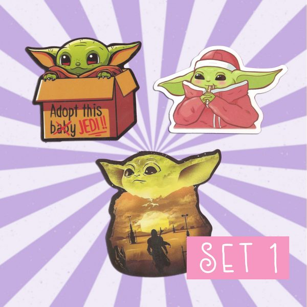 Baby Yoda Laptop Stickers